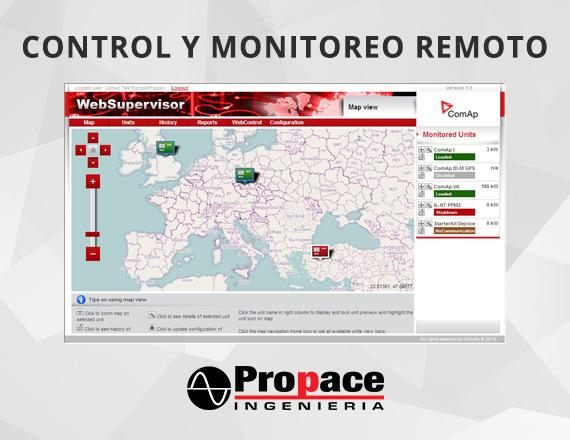 Control y monitoreo remoto Comap