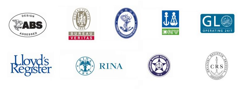 Approved by all major marine classification societies