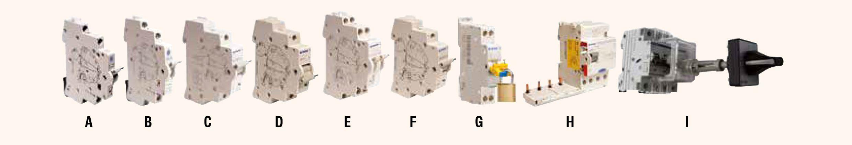 Proteccion modular din terasaki accesorios