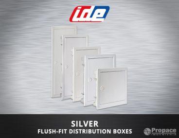 silver flush-fit distribution boxes