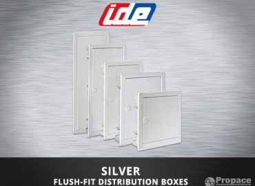 silver flush-fit distribution boxes